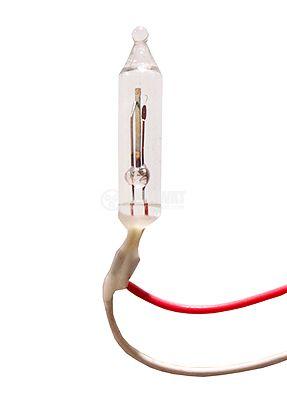 Свръхминиатюрна лампа 3V  мигаща, WIRE TERMINAL