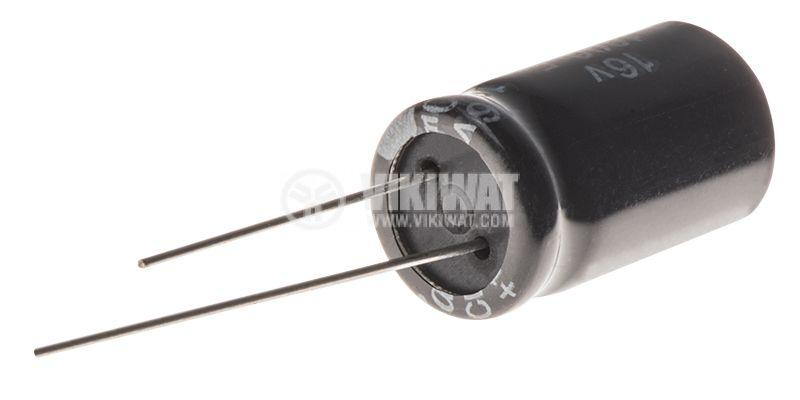 Кондензатор електролитен 1800uF, 16V, THT, ф12x20mm, Low ESR, нисък импеданс - 2