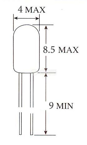 Mиниатюрна лампа, 8 V, 100 mА, BI-PIN - 2