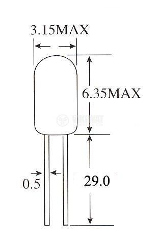 Свръхминиатюрна лампа 12V - 2