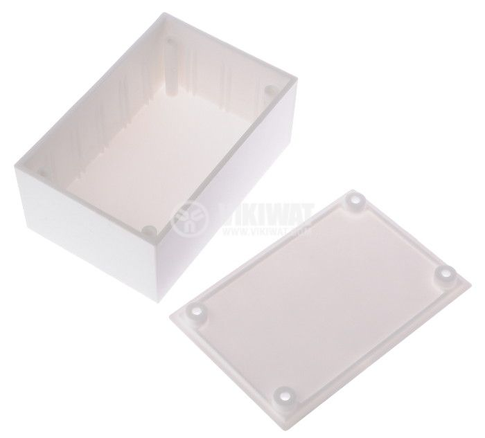 Enclosure box 1-К plastic 86x58x36 mm, white - 2