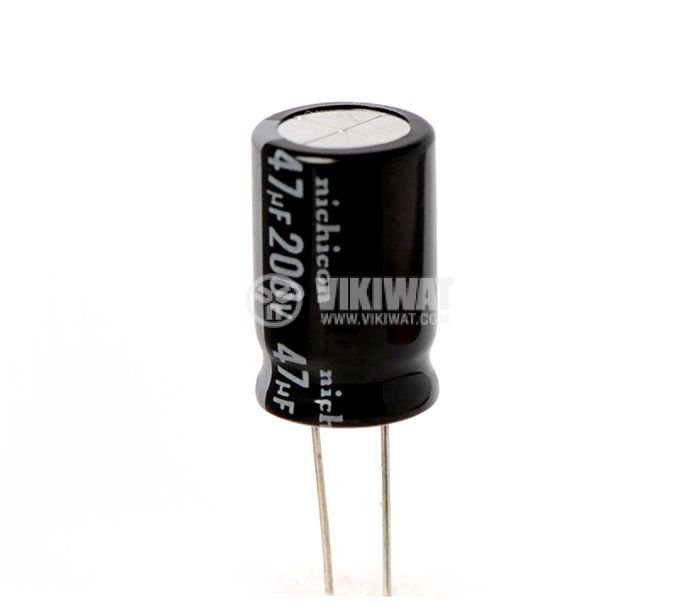 Electrolytic capacitor 200V, 47µF, Ф13x20mm