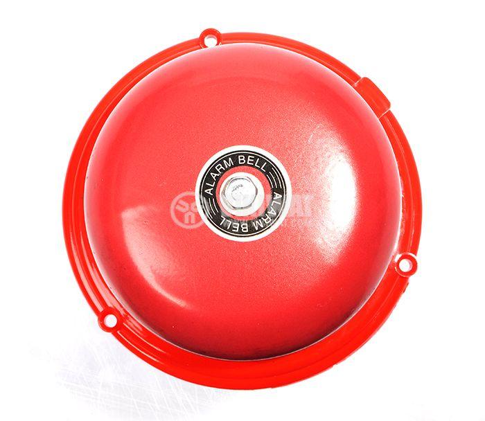 "Fire Bell electromechanical, 220 VAC 4 ""(Ф100 mm), 98 dB, red - 1"