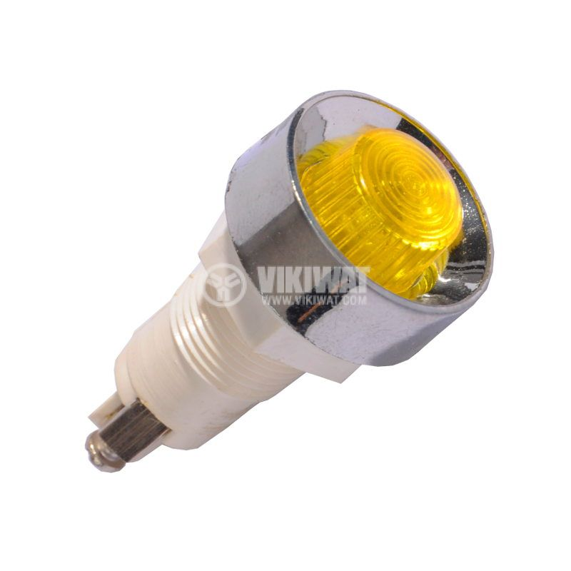 Indicatior Glim Lamp XH020, 220VАC, yellow