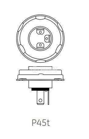 Автомобилна халогенна лампа, 12VDC, H4, 100/90W, P45t - 2