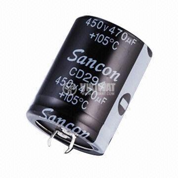 Кондензатор електролитен 350 V, 470 µF, Ф30x51 mm