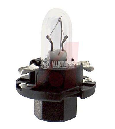 Автомобилна лампа с PVC цокъл, нажежаема жичка, BX8.4d, 12V, 1.2W - 1