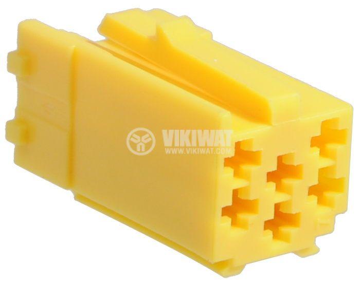 Конектор mini ISO, 6 пина, жълт - 1