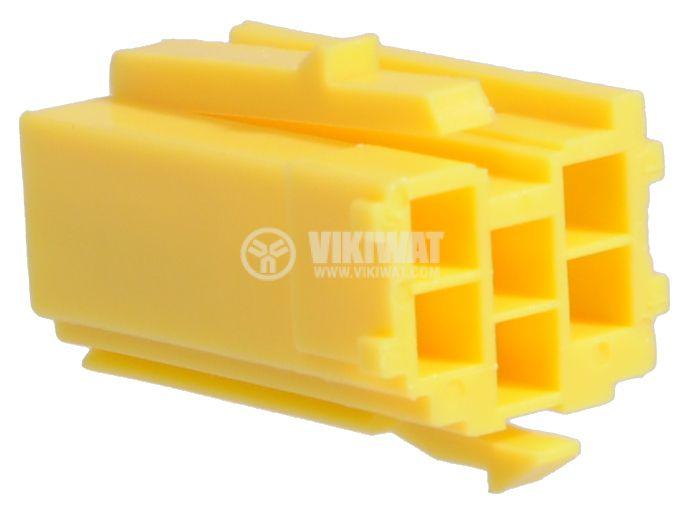 Конектор mini ISO, 6 пина, жълт - 2
