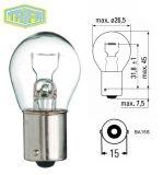 Автомобилна лампа, 12VDC, 21W, P21W, BA15S