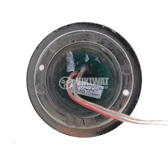 LED подова лампа 1W, 12VAC, зелена, влагозащитена - 2