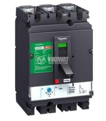Автоматичен токопрекъсвач, триполюсен, 70-100A, 440VAC, 3P, CVS100B TM100D