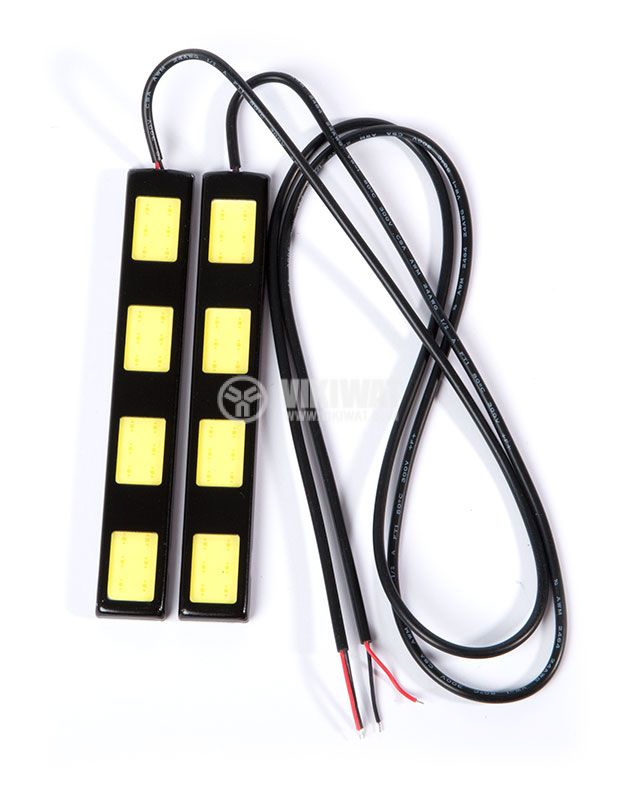 Auto LED daytime running lights DRL 2x6W, 12VDC, white - 1