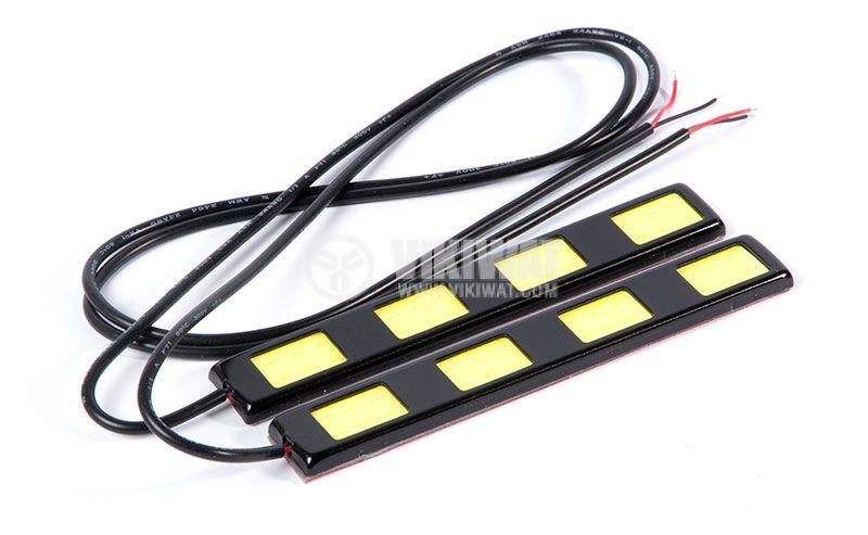 Auto LED daytime running lights DRL 2x6W, 12VDC, white - 2