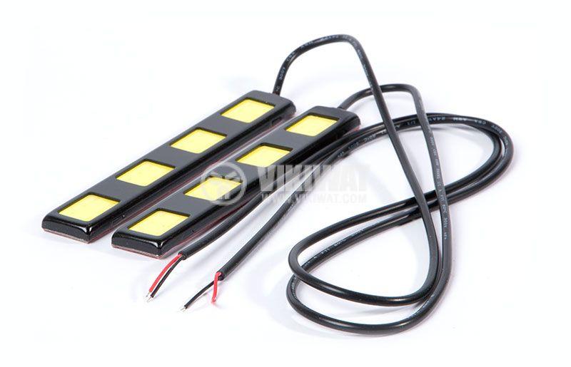 Auto LED daytime running lights DRL 2x6W, 12VDC, white - 3