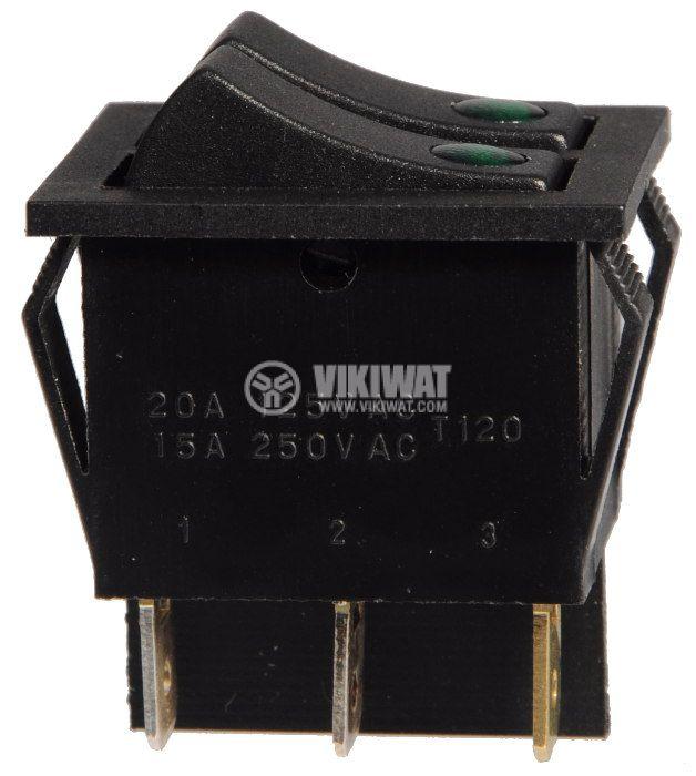 Клавишен превключвател, MK 3911 C/N, 15A/250VAC, 2xSPST