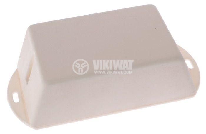 Кутия 5-K пластмаса 102x82x58x32 mm, бяла - 1