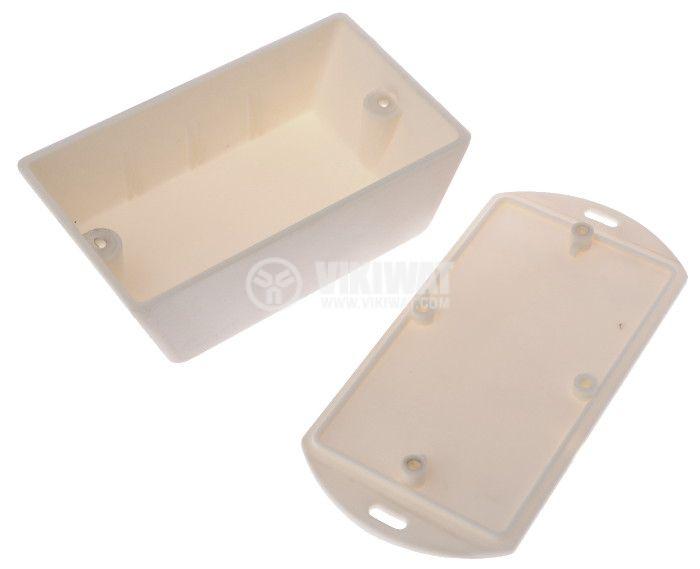 Enclosure box 5-K plastic 102x82x58x32 mm, white - 2