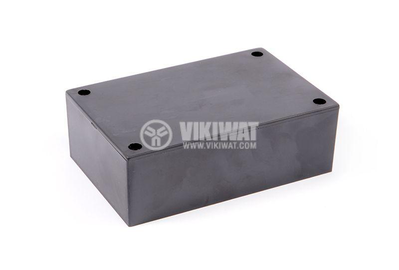 Enclosure box 2-1K plastic 110x72x37 mm, black - 1