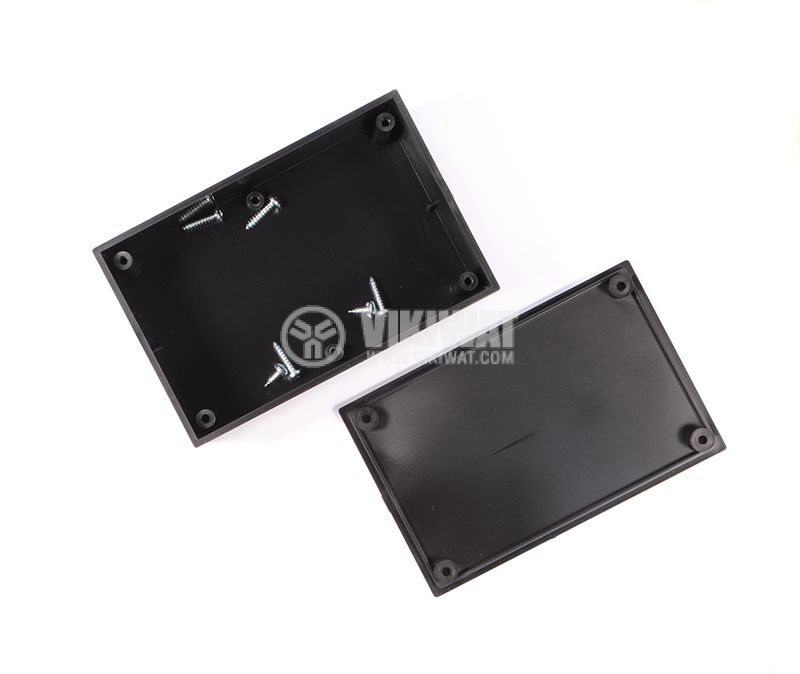 Enclosure box 2-1K plastic 110x72x37 mm, black - 3