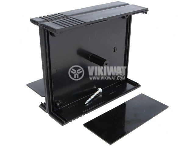 Enclosure box KM-42N, ABS, 91x111x43mm, black - 2