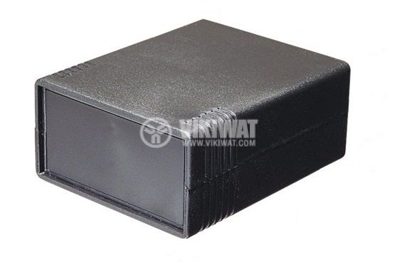 Enclosure box KM-42N, ABS, 91x111x43mm, black - 1