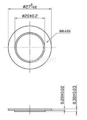 Пиезо пластина, FT-27T-2.5A1, 2.5kHz, Ф27x0.26mm, без генератор - 2