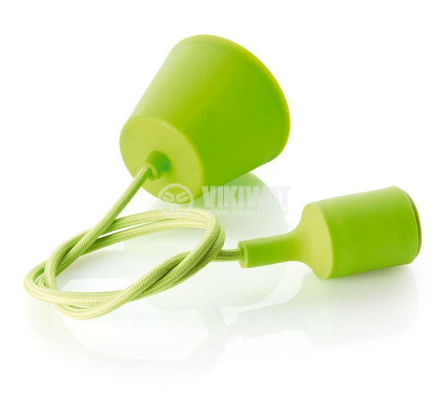 Пендел с цокъл Е27, зелен, 1m, BY45-00103 - 4