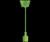 Pendant lamp holder E27, green, 1m