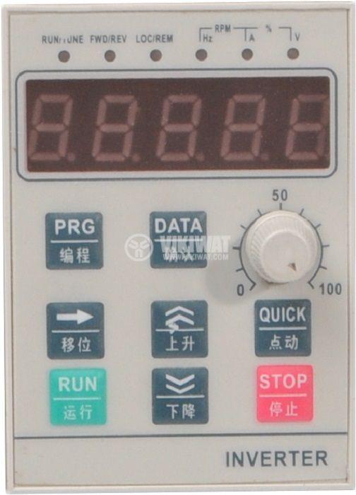 Честотен инвертор CB510G-4K, 220VAC, управление на трифазен  електродвигател 4kW - 3