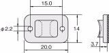 Държач за кабелни превръзки TY3G1S-PA66W-BK, 20x14mm, черен, двойнозалепващ - 6
