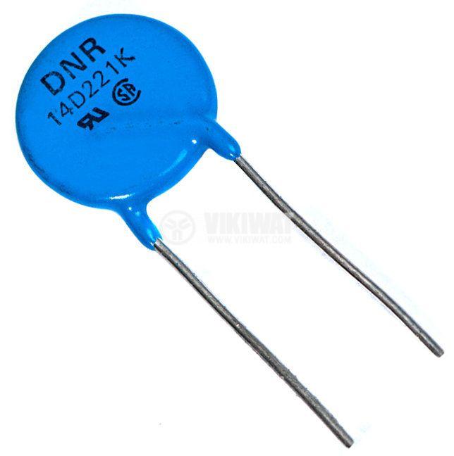 Варистор DNR14D221K, 180 VDC, 140 VAC
