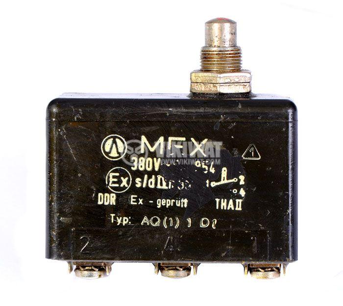 Limit Switch, MEX-DDR, SPDT-NO+NC, 6A/380VAC, pusher - 1
