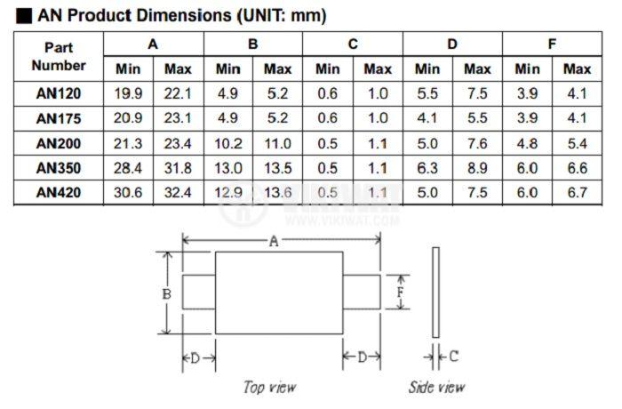 Предпазител полимерен възстановяем PTC 2 A, 30 VDC, ECE - 4