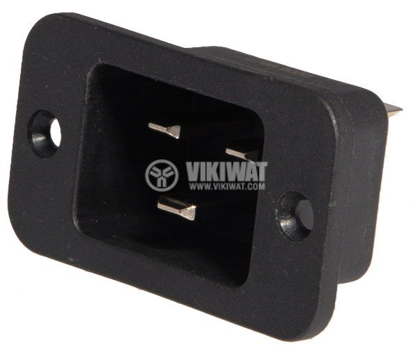 AC Power Socket, IEC 60320, 250VAC, 16A, 3pin, M - 1