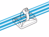 Държач за кабелни превръзки TY8G1S-PA66-NA, 32x25mm, бял, двойнозалепващ - 8