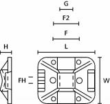 Държач за кабелни превръзки TY8G1S-PA66-NA, 32x25mm, бял, двойнозалепващ - 9