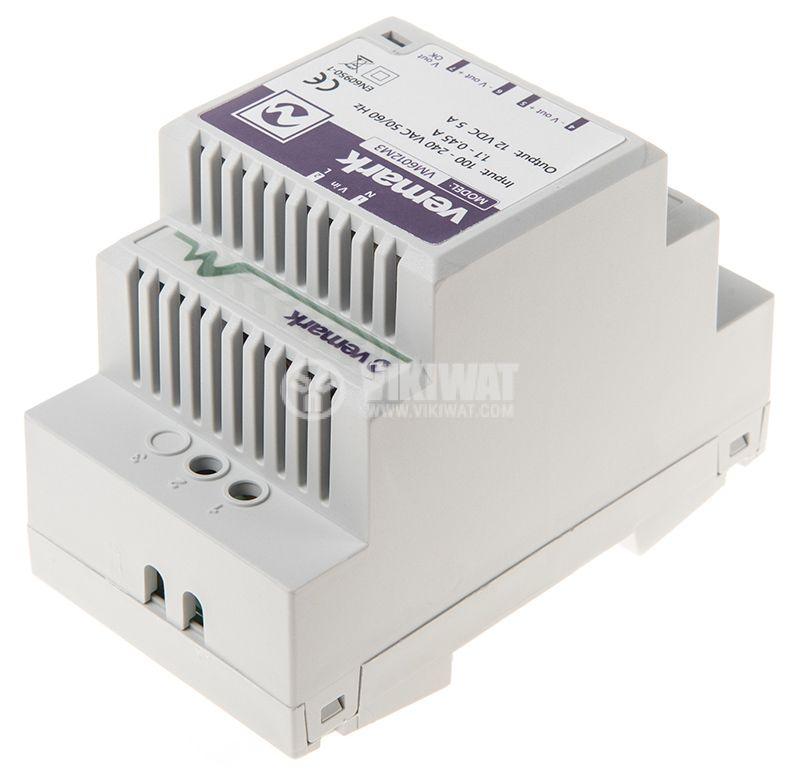 Pulse power supply for DIN rail, 12VDC, 60W, 5A, VS6012M3 - 3