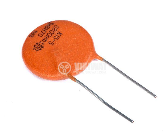 Керамичен кондензатор, 6.8 nF, 3 kV, К15-5, 85 °C