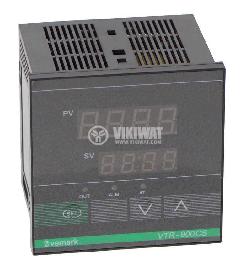 Temperature controller VTR-900CS, 220VAC, 0-600°C, Pt100, relay output - 1
