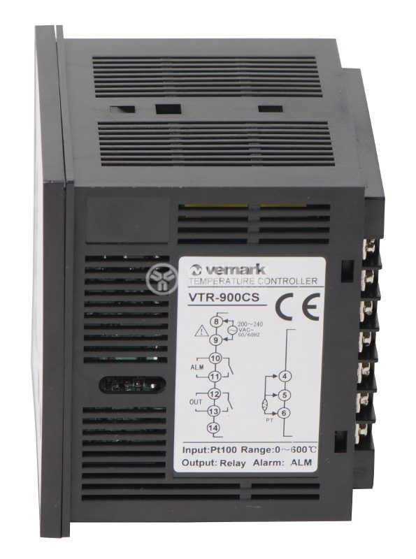 Temperature controller VTR-900CS, 220VAC, 0-600°C, Pt100, relay output - 2