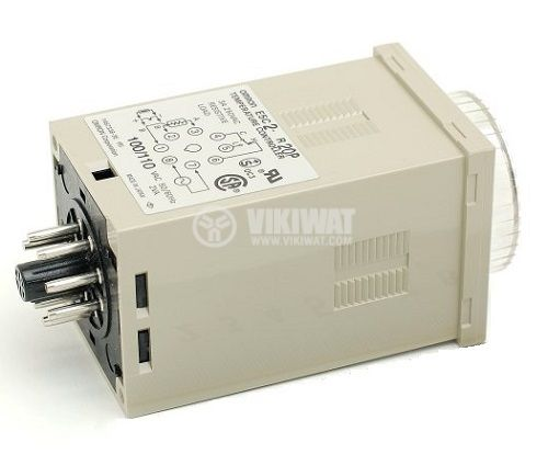 Temperature Regulator, E5C2, 220 VAC, 0° C to 400 °C, type J with relay output - 2