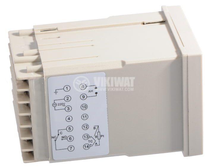 Temperature regulator, VTR-70C4, 220 VAC, 0° C to 400 °C, sensor Pt100, with relay output - 2