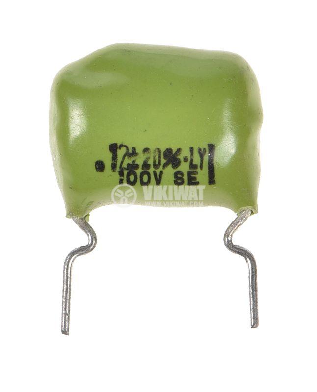 Кондензатор полиестерен 120nF, 100V, +/-20% - 1