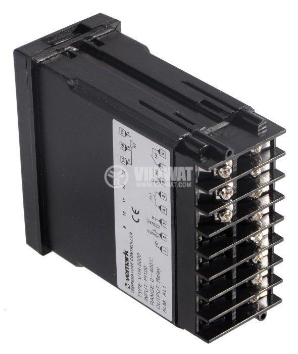 Temperature Regulator, VTR-5000, 220 VAC, from 0 °C to 400 °C, sensor Pt100, relay output - 2