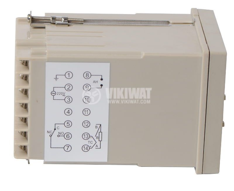 Temperature controller VTR-70C4, 220VAC, 0-400°C, TC type K, relay output - 2