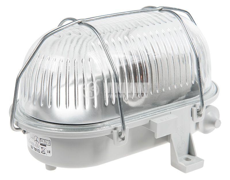 Ceiling lamp OVAL, E27, 230VAC, 42W, IP44 - 2