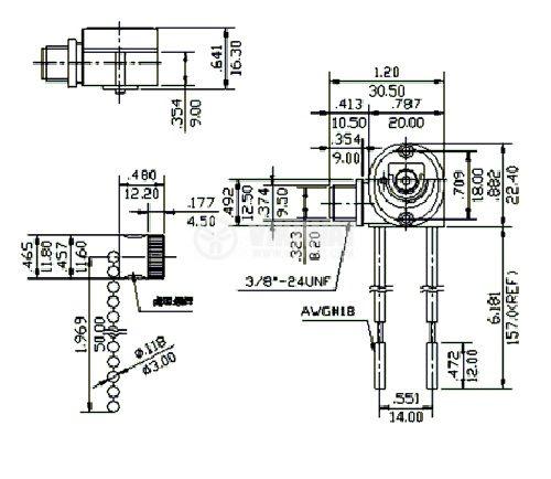 Превключвател, ключ със синджирче, 2 позиции, SPST, 3 A, 250 VAC - 2