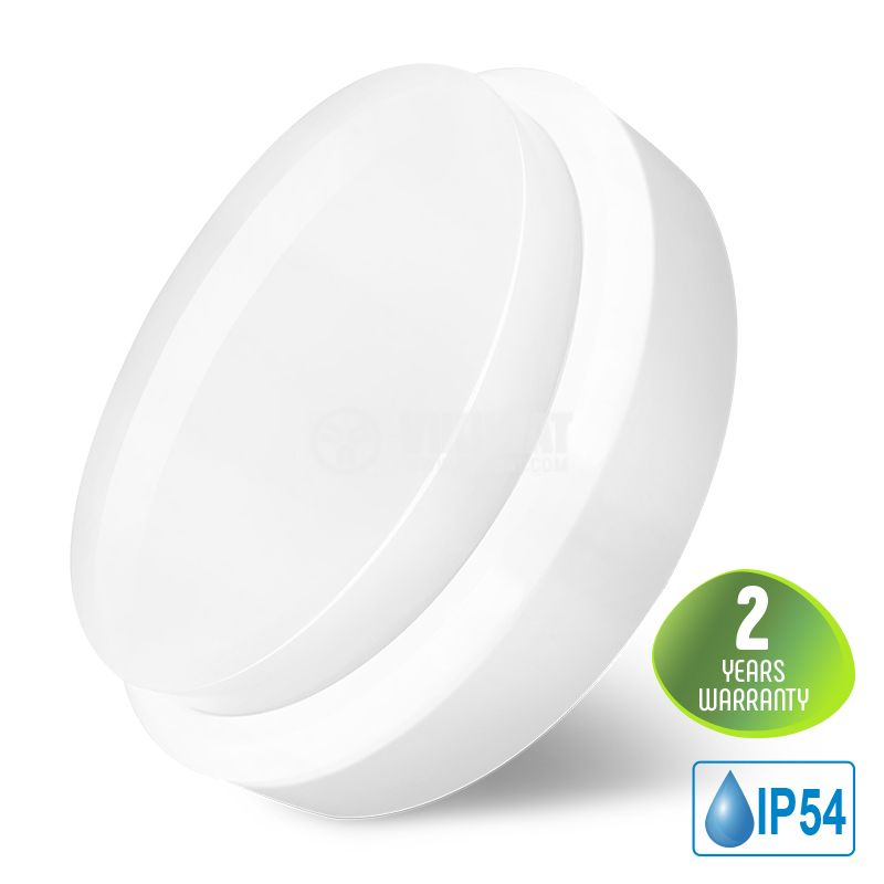 LED ceiling lamp BULKHEAD 18W, 220VAC, 1260lm, 6500K, cool white, IP54, waterproof, BC16-00630 - 1