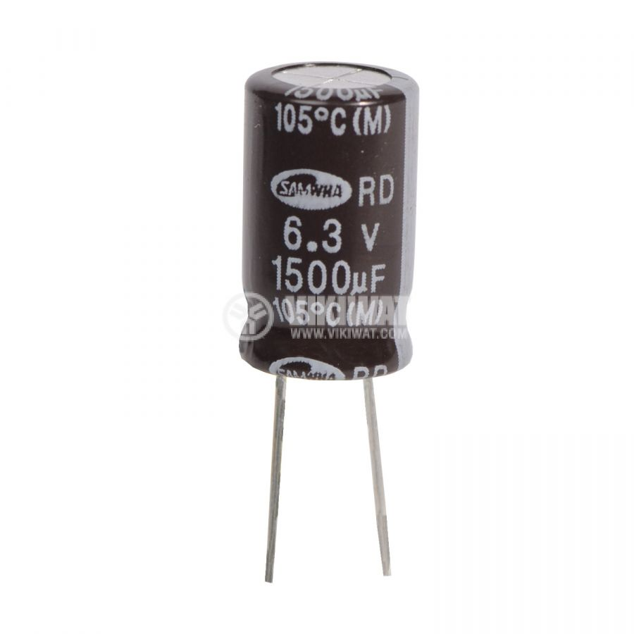 Electrolytic capacitor 6.3V, 1500µF, Ф10x16mm